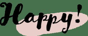 イースター イラスト 無料|手書き Happy 文字