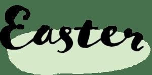 イースター イラスト 無料|手書き Easter 文字