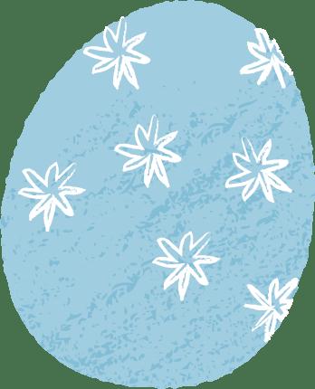 イースター イラスト 無料|手書き イースターエッグ 水色