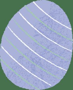 イースター イラスト 無料|手書き イースターエッグ 紫色