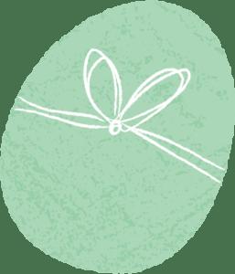 イースター イラスト 無料|手書き イースターエッグ 緑色