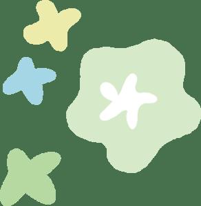 イースター イラスト 無料|手書きの花 飾り3