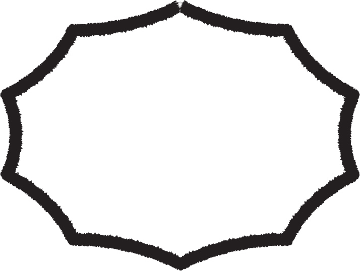 可愛いイラスト無料|吹き出し3 シンプル 白黒