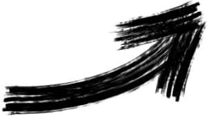 可愛いイラスト無料|手書き 矢印 黒 上向き1
