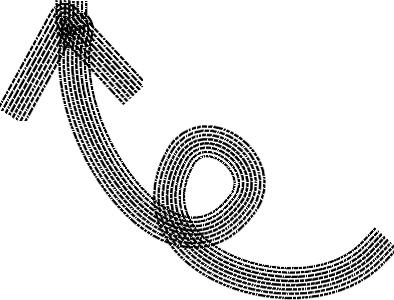 可愛いイラスト無料|手書き 矢印 黒 左上向き3