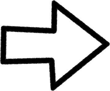 可愛いイラスト無料 手書き 矢印 黒 右向き1