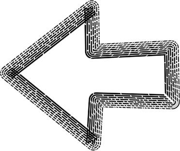 可愛いイラスト無料 手書き 矢印 黒 左向き3