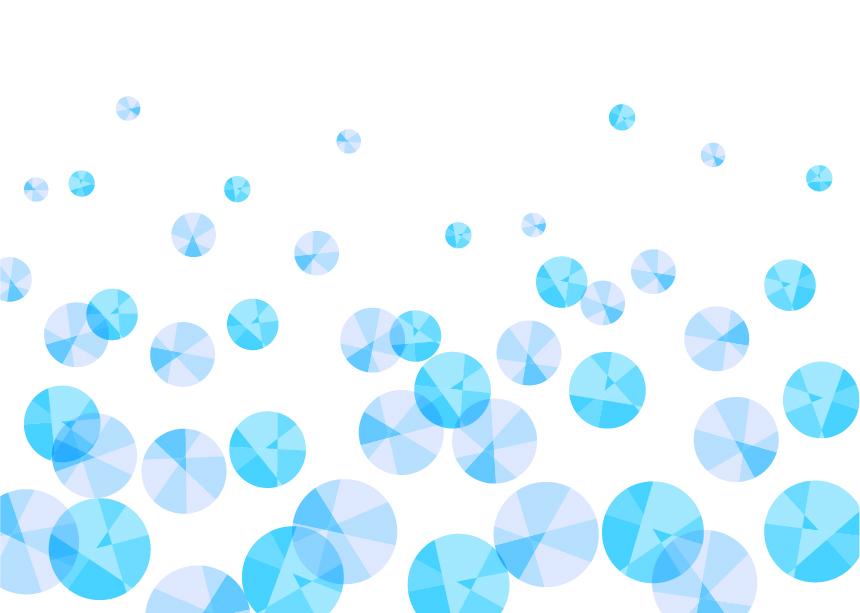 可愛いイラスト無料|背景 宝石 泡 青色