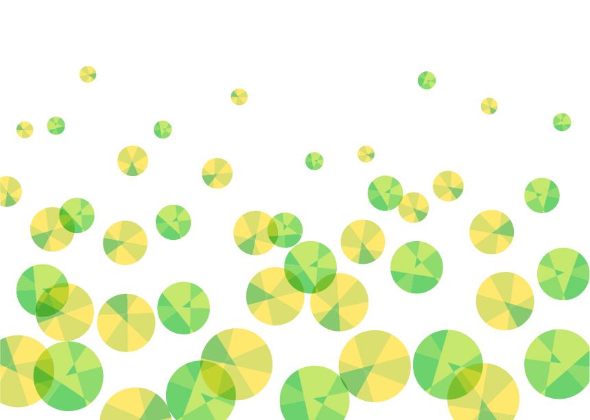 可愛いイラスト無料|背景 宝石 泡 緑色
