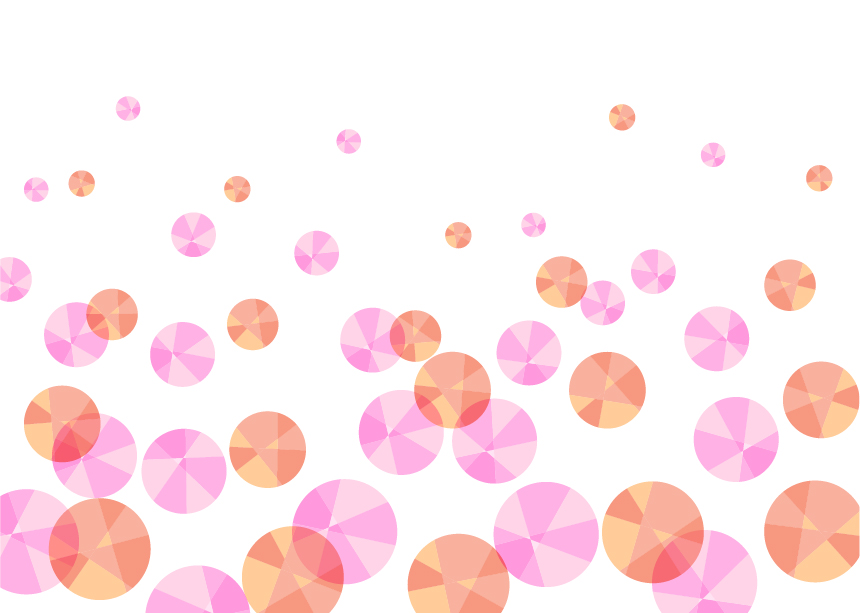 可愛いイラスト無料|背景 宝石 泡 ピンク色
