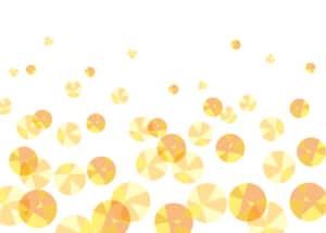 可愛いイラスト無料|背景 宝石 泡 黄色