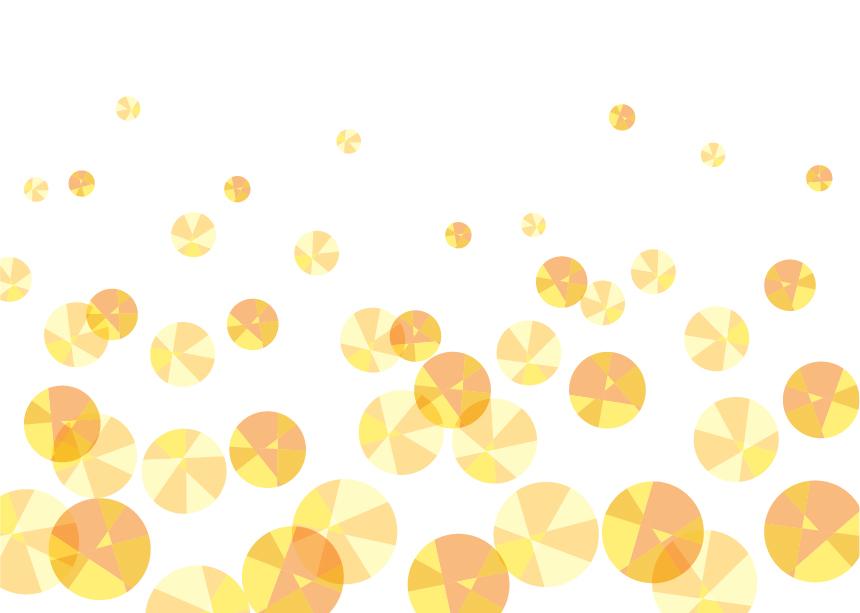可愛いイラスト無料 背景 宝石 泡 黄色