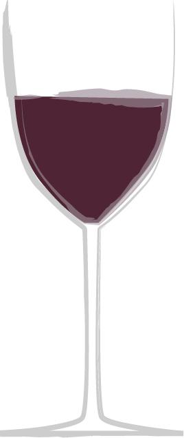手書きイラスト無料|お酒 赤ワイン