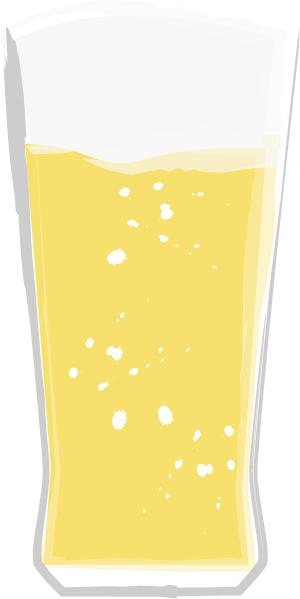 手書きイラスト無料|お酒 グラス ビール