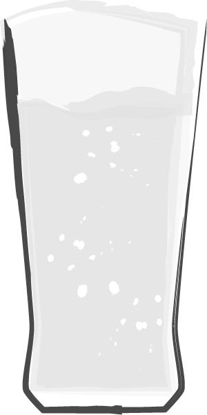 手書きイラスト無料|お酒 グラス ビール 白黒