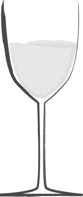 手書きイラスト無料|お酒 白ワイン 白黒