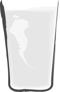 手書きイラスト無料|お酒 日本酒 白黒