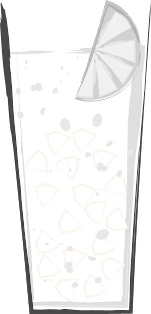 手書きイラスト無料 お酒 サワー 白黒