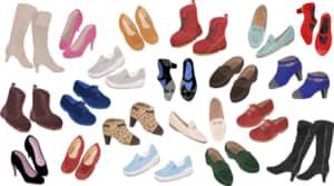 イラストデータ販売|女性の靴 2本