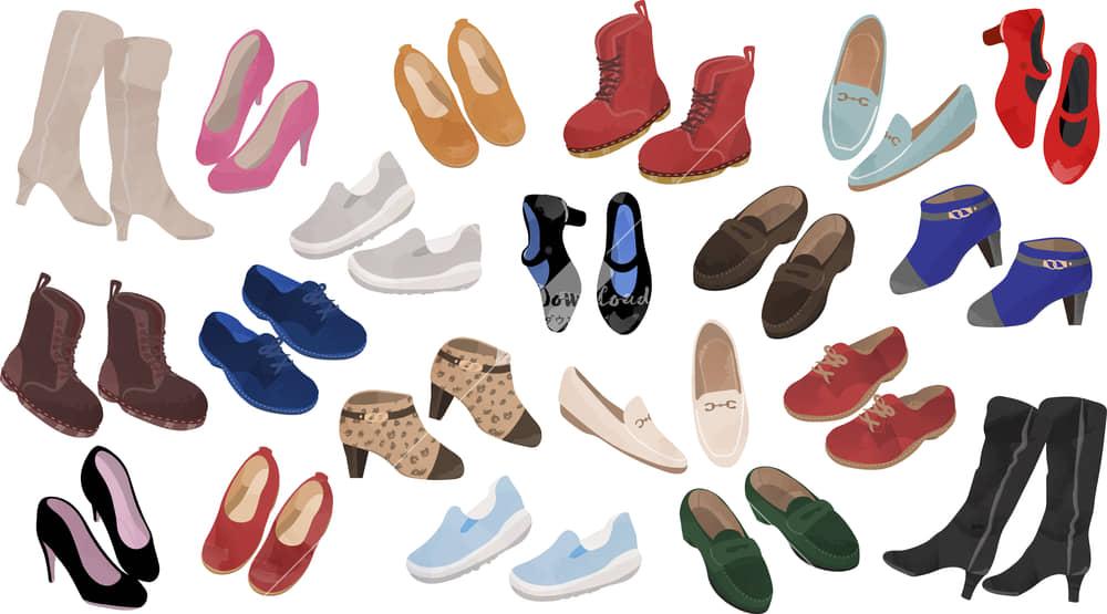 イラストデータ販売|女性の靴 セット