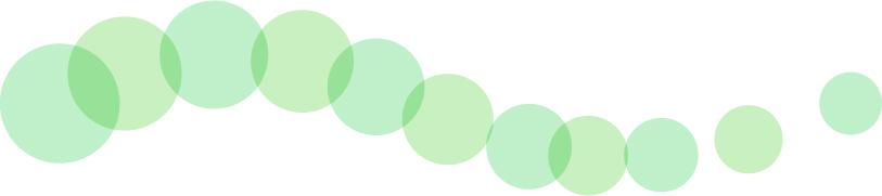 可愛いイラスト無料|罫線・ライン 丸の波ボーダー 緑色