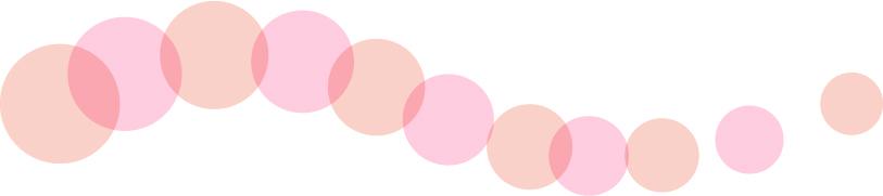 可愛いイラスト無料|罫線・ライン 丸の波ボーダー 赤色