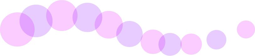 可愛いイラスト無料 罫線・ライン 丸の波ボーダー 紫色