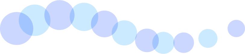 可愛いイラスト無料|罫線・ライン 丸の波ボーダー 青色