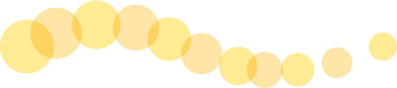 可愛いイラスト無料|罫線・ライン 丸の波ボーダー 黄色