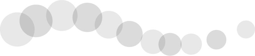可愛いイラスト無料|罫線・ライン 丸の波ボーダー グレー