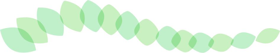可愛いイラスト無料|罫線・ライン 葉っぱの波ボーダー 緑色