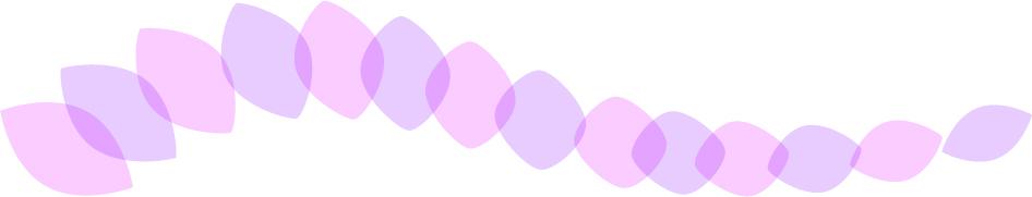 可愛いイラスト無料|罫線・ライン 葉っぱの波ボーダー 紫色