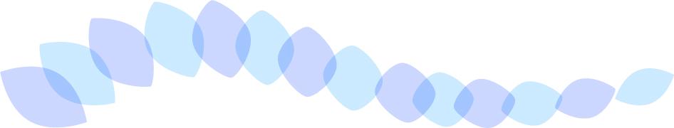 可愛いイラスト無料|罫線・ライン 葉っぱの波ボーダー 青色