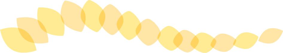 可愛いイラスト無料|罫線・ライン 葉っぱの波ボーダー 黄色