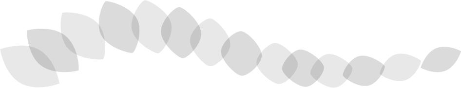 可愛いイラスト無料|罫線・ライン 葉っぱの波ボーダー グレー
