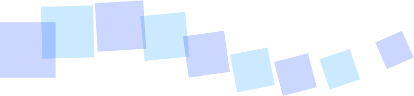 可愛いイラスト無料|罫線・ライン 四角のボーダー 青色