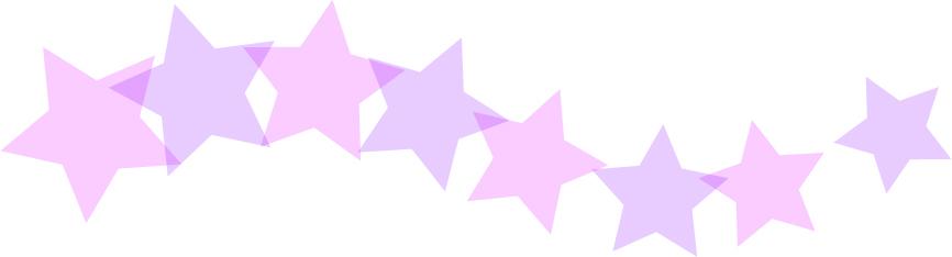 可愛いイラスト無料|罫線・ライン 星のボーダー 紫色