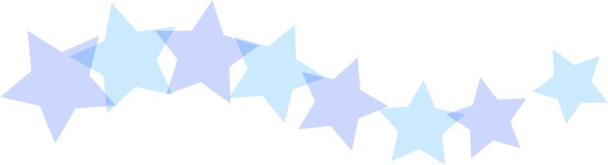 可愛いイラスト無料|罫線・ライン 星のボーダー 青色