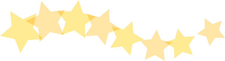 可愛いイラスト無料|罫線・ライン 星のボーダー 黄色