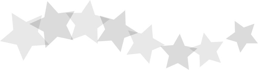 可愛いイラスト無料|罫線・ライン 星のボーダー グレー