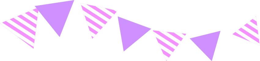 可愛いイラスト無料|罫線・ライン フラッグ 紫色