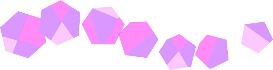 可愛いイラスト無料|罫線・ライン 宝石 紫色
