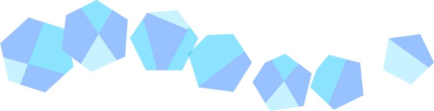 可愛いイラスト無料|罫線・ライン 宝石 青色