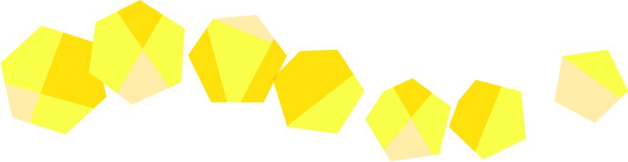 可愛いイラスト無料|罫線・ライン 宝石 黄色