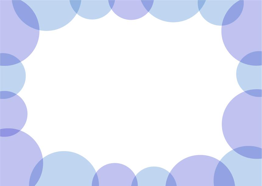可愛いイラスト無料|背景 周りに円 シンプル 青色