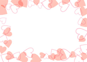 可愛いイラスト無料|背景 ハート 枠 ピンク色