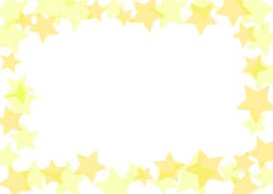可愛いイラスト無料|背景 星 枠 黄色