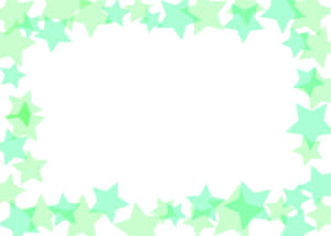 可愛いイラスト無料|背景 星 枠 緑色