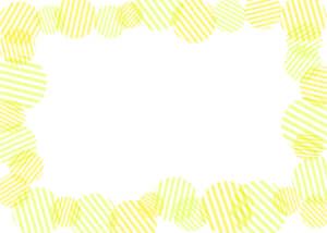 可愛いイラスト無料|背景 円ボーダー 枠 黄色