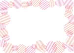 可愛いイラスト無料|背景 円ボーダー 枠 ピンク色
